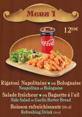 Menu 1 Pizzeria Bella Notte