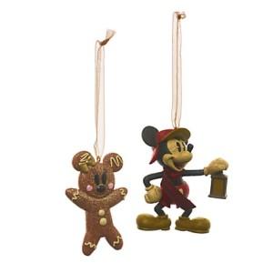Ornements Mickey Mouse et le Bonhomme en pain d'épices - 12euros99