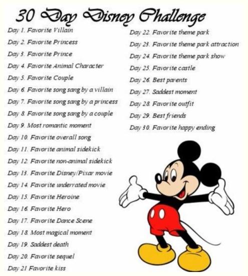 30 day disney challenge
