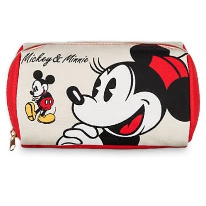 Trousse de maquillage Mickey et Minnie en toile - 12€90